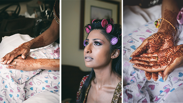 Hindu Wedding Bridal Preparation