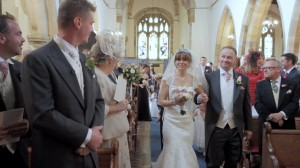 North East Wedding Film - Laura's dad walks her down the aisle