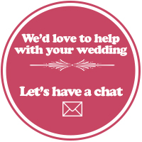 we'd love to help with your wedding