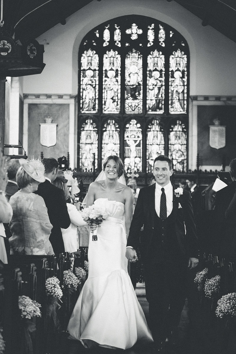 Manchester Wedding couple walking down the aisle