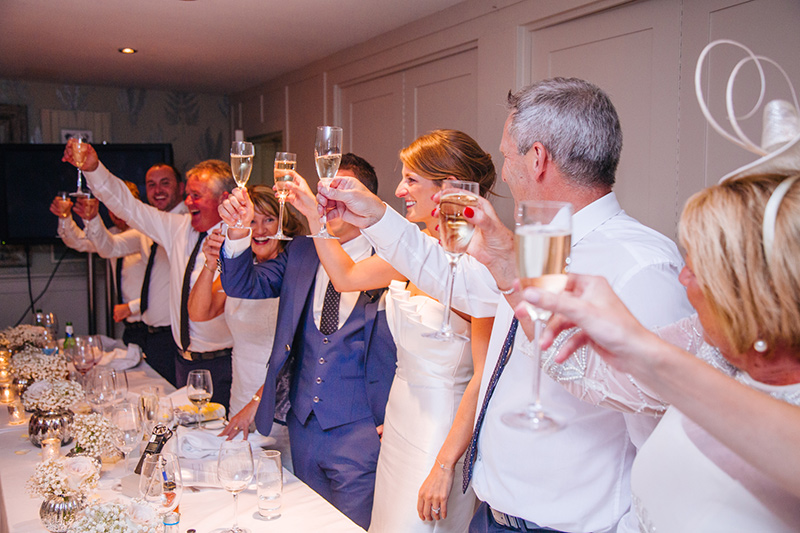 wedding toast photography