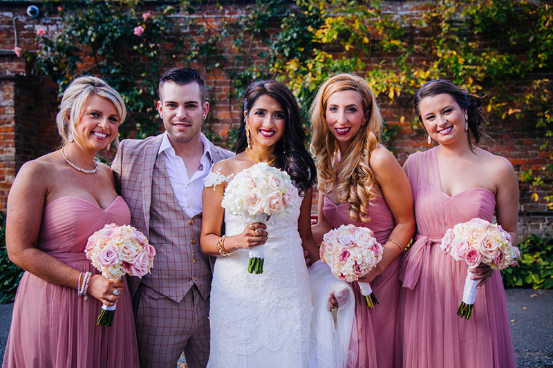 cheshire wedding bride and bridesmaids