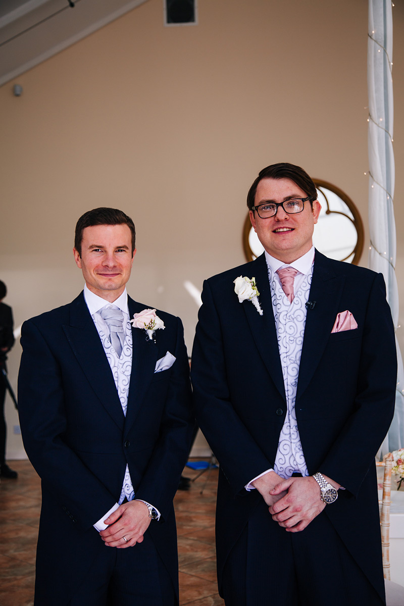 cheshire wedding groom and bestman together