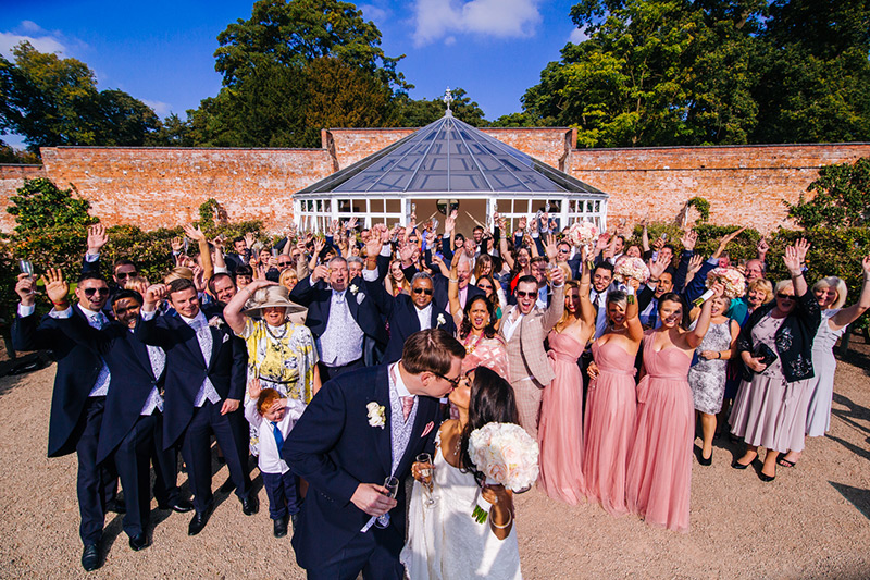 cheshire wedding guests photo