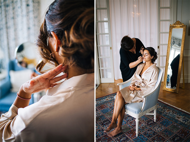 bride preparation Stockholm Grand Hotel