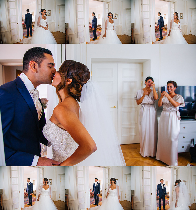 romantic bride and groom montage
