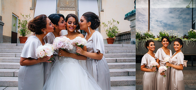 doting bridesmaids Stockholm