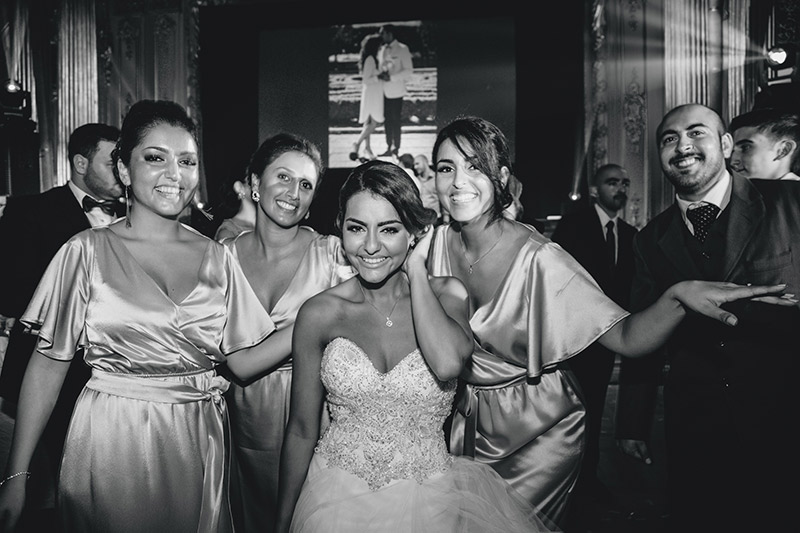 beautiful Persian bride and bridesmaids Stockholm