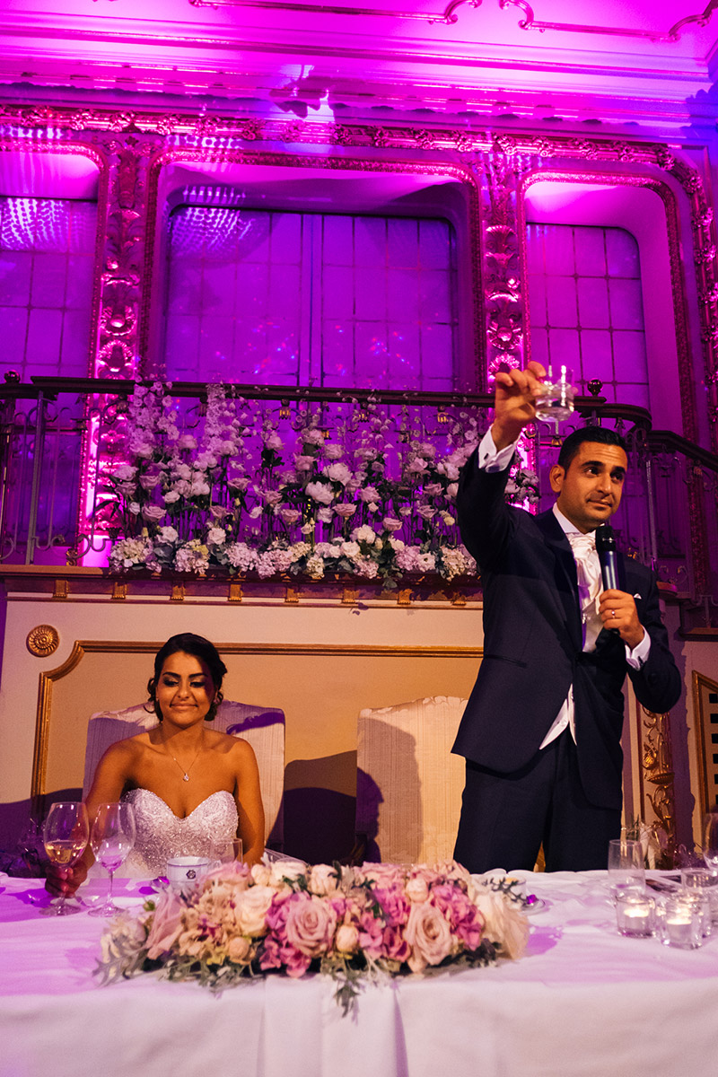 Persian wedding Stockholm groom speech