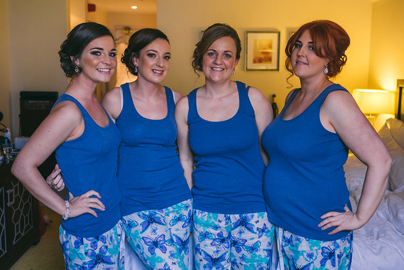 Bridesmaids in matching pyjamas Manchester