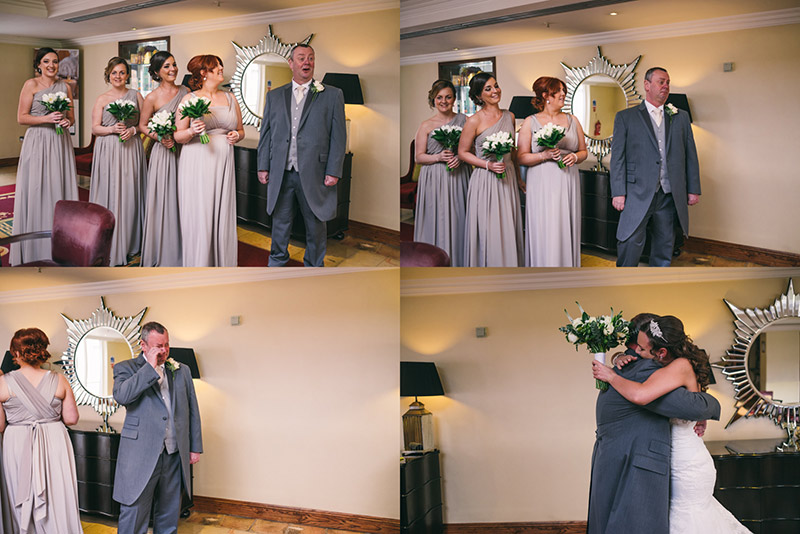 Father of the bride sees daughter first time