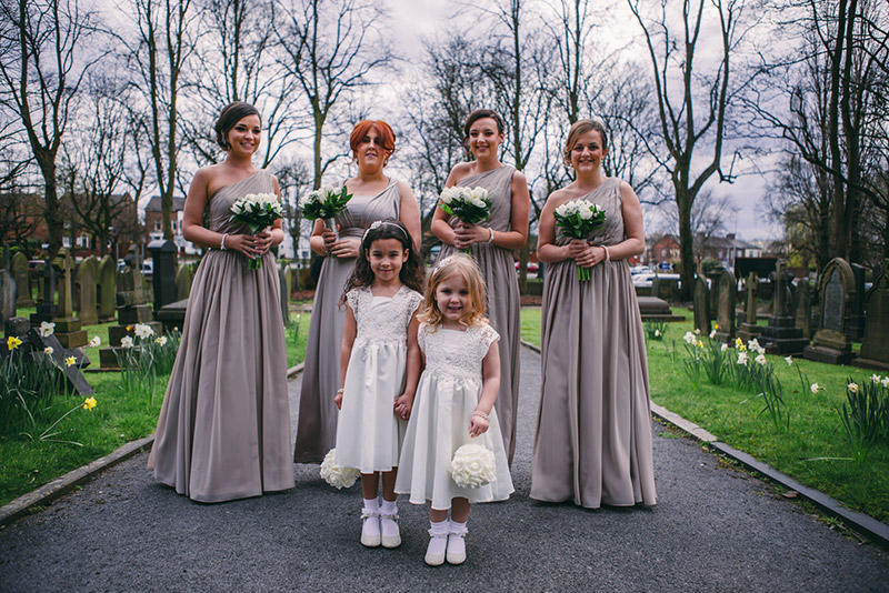 Bridesmaids and flower girsl