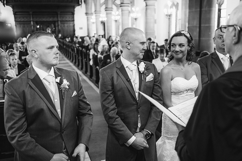 Wedding Photographer Manchester at the altar