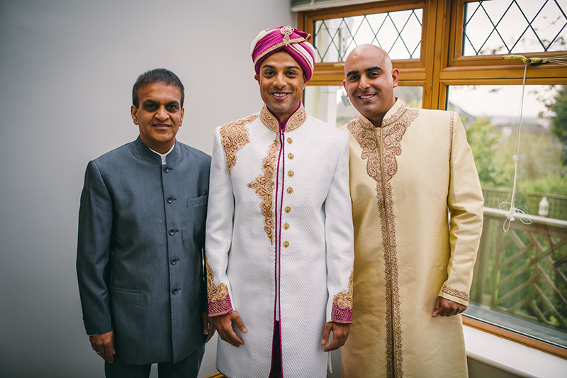 Groom and family Indian wedding