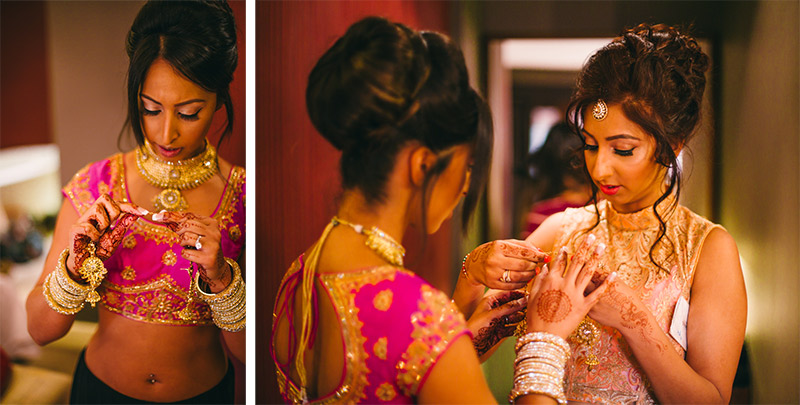 bridal preparation Indian wedding