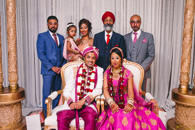 Indian wedding photographer family portrait
