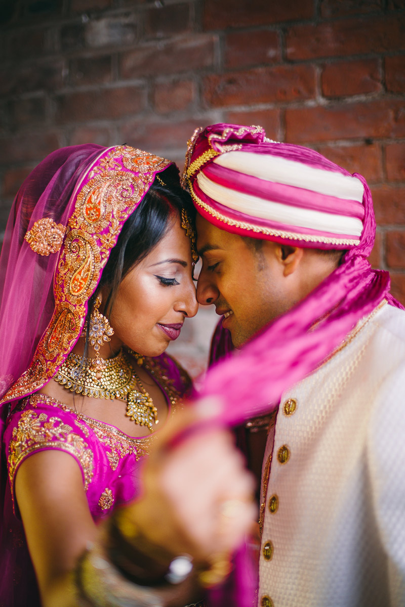 bride and groom Indian wedding photography