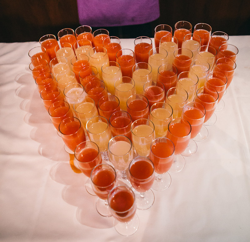 heart shaped aperitifs Indian wedding