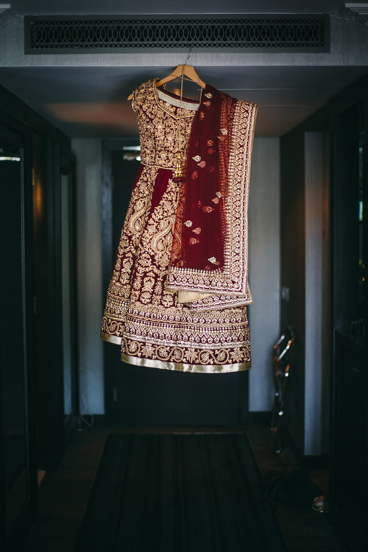 Wedding photographer London Indian bridal gown