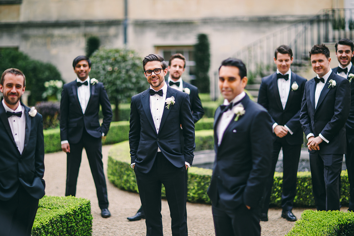 groom and groomsmen outside