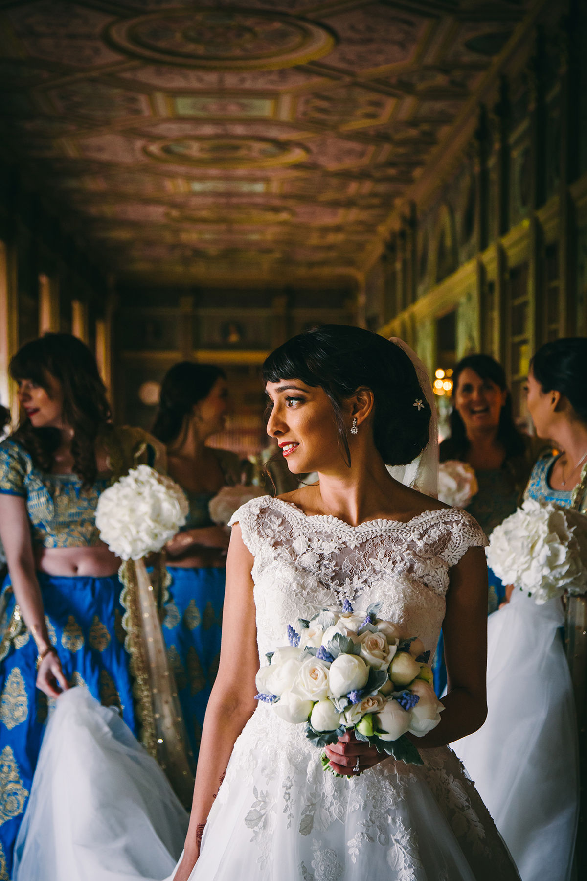 bride in classical interior