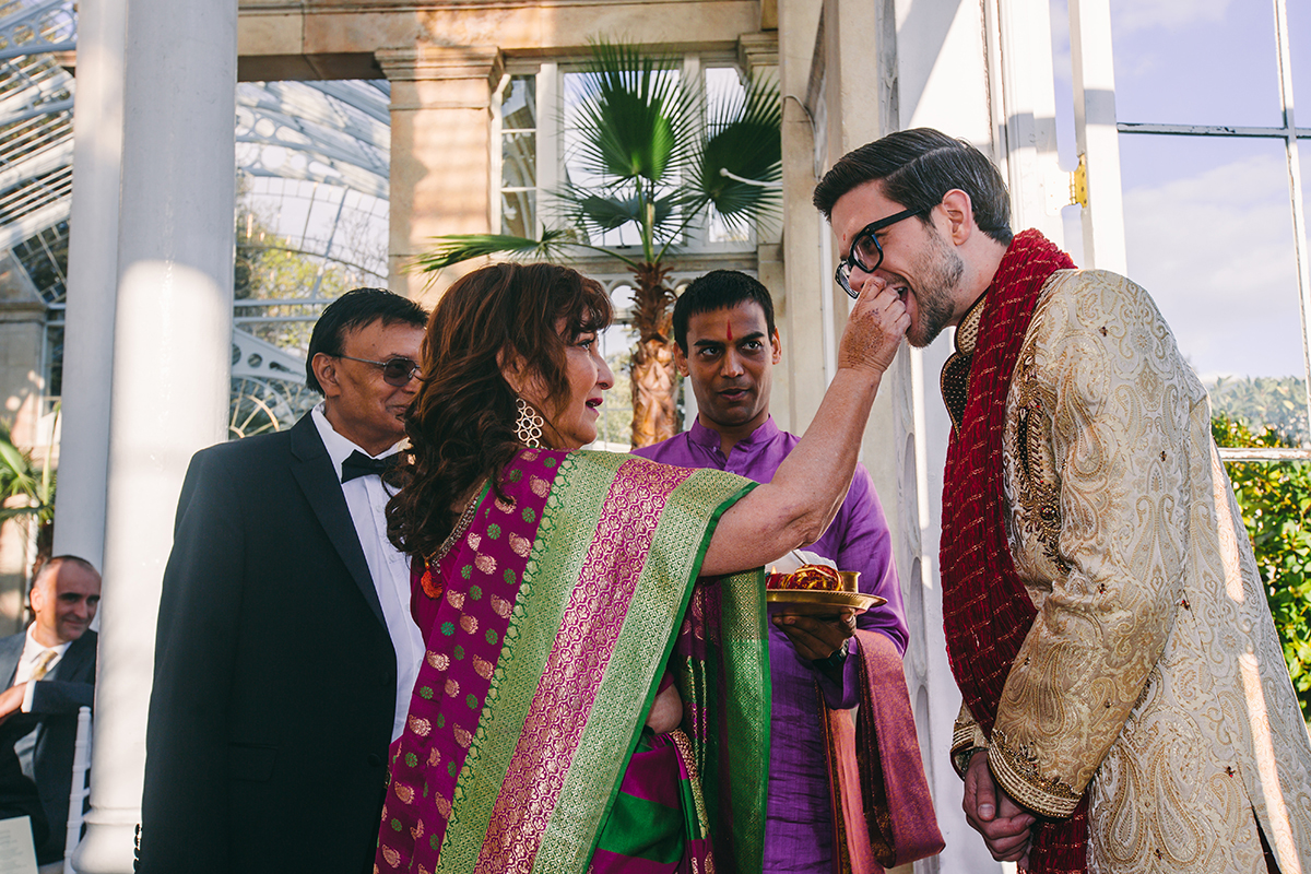 groom enters Indian ceremony